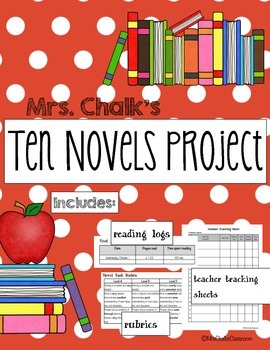 Ten Novels Project - Middle School Novel Study, Book Repor