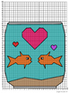 """Valentine's Day Coordinate Mystery Grid """"Something Fishy"""""""