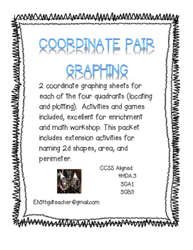 Coordinate Pair Graphing Practice and Games