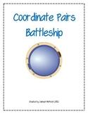 Coordinate Pairs Battleship Game