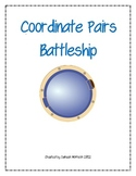 Coordinate Pairs Battleship Game