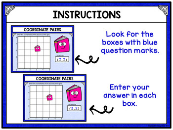 Coordinate Pairs Digital Activity for Google Classroom - School Supplies