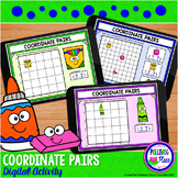 Coordinate Pairs Digital Activity for Google Classroom - S