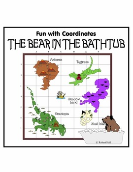 """Coordinate Pairs Practice - """"The Bear in the Bathtub"""""""