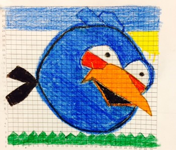 Coordinate Pictures Angry Birds Ordered Pairs - Blue Bird