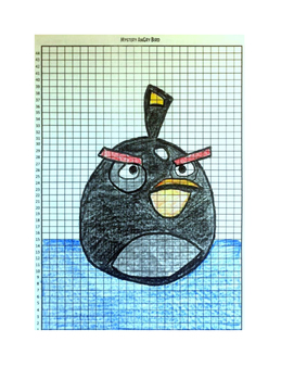 Coordinate Pictures Angry Birds Ordered Pairs - Black Bird