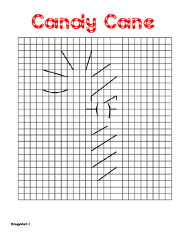 Coordinate Graphing Candy Cane