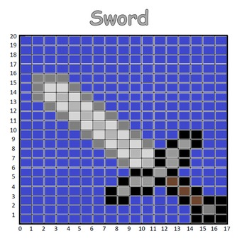 Coordinate Pictures Minecraft Sword