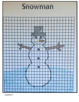 Coordinate Pictures Snowman