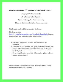 Coordinate Plane - 1st Quadrant: Rabbit