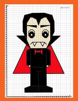 Coordinate Plane - 1st Quadrant: Vampire