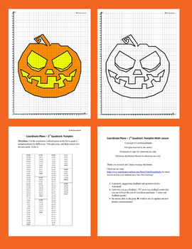 Coordinate Plane - 1st Quadrant: Halloween Bundle
