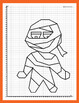 Coordinate Plane - 1st Quadrant: Mummy