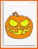 Coordinate Plane - 1st Quadrant: Pumpkin