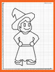 Coordinate Plane - 1st Quadrant: Witch