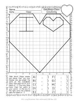Coordinate Plane 2 - Quadrant I Graphing Picture