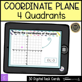 6th Grade Coordinate Plane 4 Quadrants Boom Cards