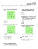 Coordinate Plane 5.G.1  5.G.2  5.OA.3 ASSESSMENT Test