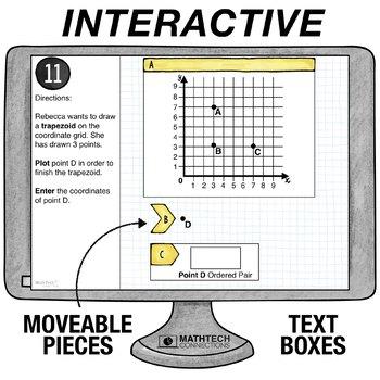 Coordinate Plane - 5th Grade Google Classroom Math Center | 5.G.2