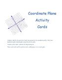 Coordinate Plane Activity Cards
