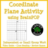 Coordinate Plane Activity using BrainPOP