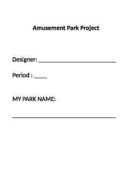 Coordinate Plane Amusement Park Project