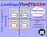 Coordinate Plane Anchor Chart, Interactive Foldable Notebook, and practice pages