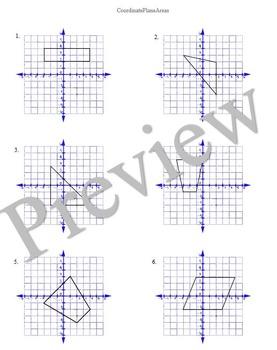 coordinate plane areas by lexie teachers pay teachers. Black Bedroom Furniture Sets. Home Design Ideas