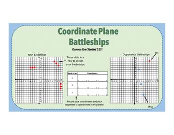 Coordinate Plane Battleship Game