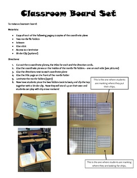 Coordinate Plane Battleship - Pirates of the Caribbean