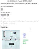 Coordinate Plane Battleship---SUB Plans