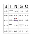 Coordinate Plane Bingo Card