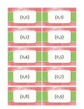 Coordinate Plane Bingo Cards