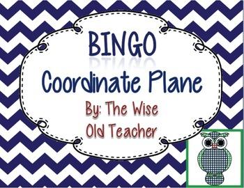 Coordinate Plane Bingo Game PowerPoint with Blank Bingo Ca