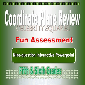 Coordinate Plane Celebrity Squares Review Game