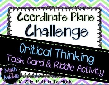 Coordinate Plane Challenge Task Card Activity