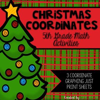 Coordinate Plane Christmas {Leveled}