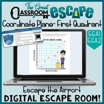 Coordinate Plane Digital Escape Room 5th Grade Math Geometry Standards