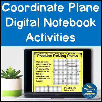Coordinate Plane Digital Notebook Activity
