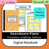 Coordinate Plane Digital Notebook (VA SOL 6.8) Distance Le