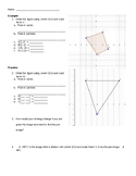 Coordinate Plane Dilation Notes and Homework