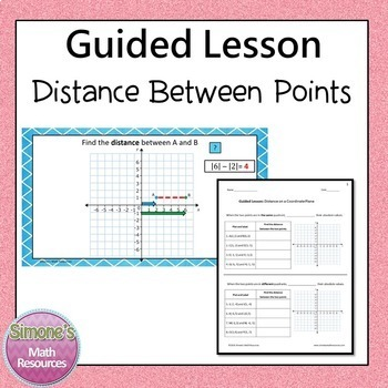 Coordinate Plane, Distance, and Reflections Guided Lesson Bundle