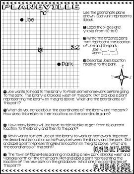 Coordinate Plane Doodle Notes