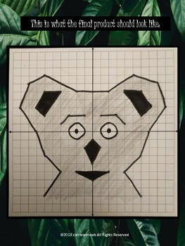 Coordinate Plane Drawing Activity--Koala Bear