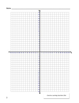 Middle School Coordinate Plane Graphing Activity:Fall Leaves