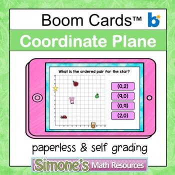 Coordinate Plane First Quadrant Digital Interactive Boom Cards
