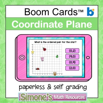 Coordinate Plane First Quadrant Digital Interactive Boom Cards Distance Learning