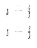 Coordinate Plane Flipbook