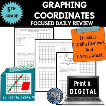 Coordinates [Coordinate Plane] - Focused Daily Review - 5th Grade