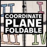 Coordinate Plane Foldable - Interactive Math Notebook Insert